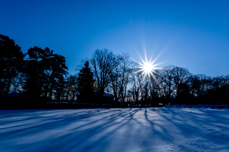 Snow-Covered Parking Lot, Belmar, NJ
