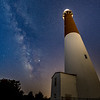 The Milky Way Rising Over Barnegat Lighthouse 4/11/19