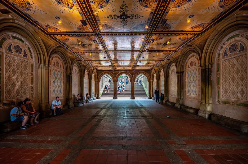 Bethesda Terrace in Central Park, New York City 6/28/18