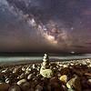 Milky Way Over Rock Stack On Montauk Beach 5/3/17