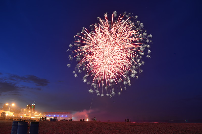 Fireworks on Beach, Asbury Park, NJ