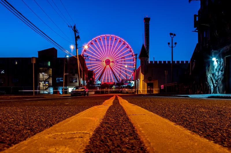 Predawn Over The Seaside Heights Boardwalk Ferris Wheel 8/19/20