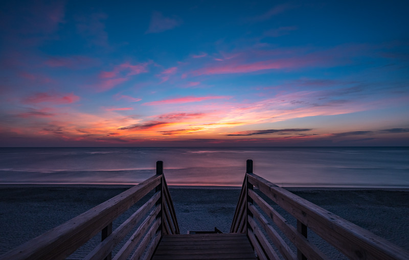Predawn Colors Over Beach Pathway in Corolla, Outer Banks 8/18/18