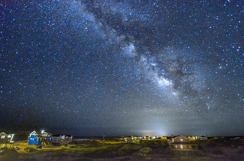 The Milky Way Galaxy Arching Across the Sky Over Corolla, Outer Banks, NC