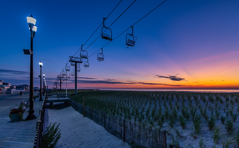 Predawn Colors Over The Sky Ride on Seaside Heights Beach 9/8/19