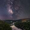 The Milky Way Rising Over The Delaware River Along Hawk's Nest, Port Jervis, NY 9/19/20