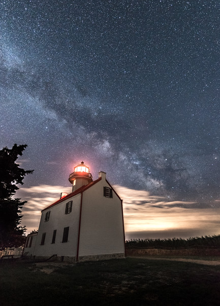 Milky Way Arching Over East Point Lighthouse 6/26/17