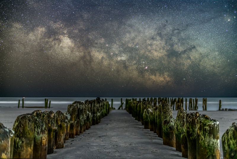 The Milky Way Galactic Core Rising Over Century Old Remnants Of Coast Guard Station 3/14/21