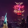 Fireworks Over The Empire State Building & The Statue of Liberty 7/4/21