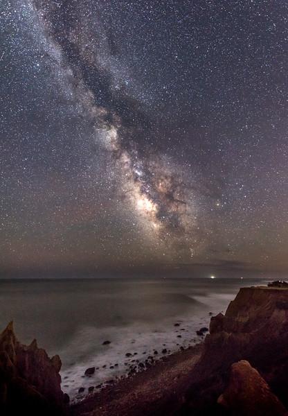 Milky Way Rising Over Cliffs at Montauk Beach 5/3/17