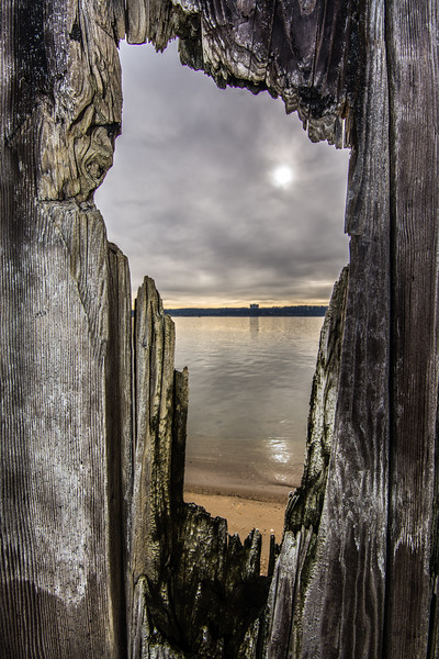 View Through at Weathered Fence, Sandy Hook, NJ