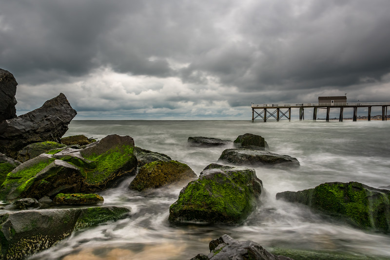 Stormy Skies Over Belmar Pier and Jetty Rocks 6/22/18