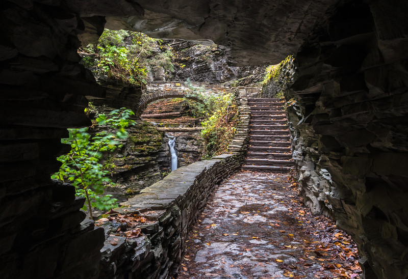Tunnel View of Pathway in Watkins Glen State Park, NY 10/16/17