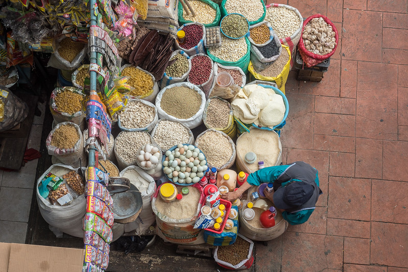 A vendor in the mercado. Cuenca, Ecuador.