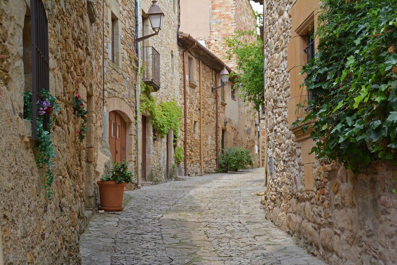 Medieval town in Costa Brava