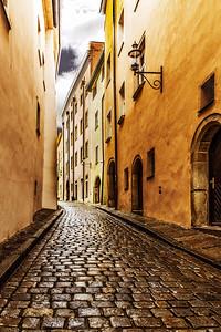 Cobblestone Street, Passau, Germany