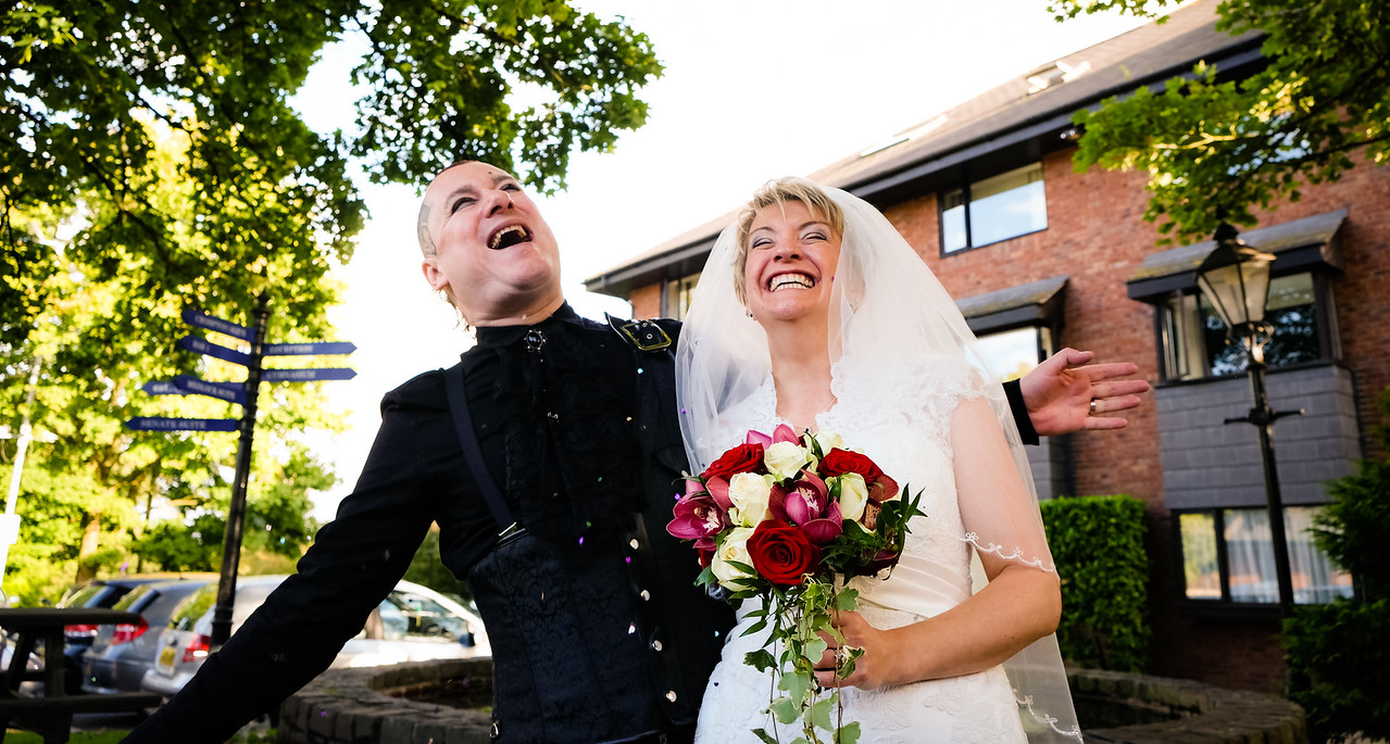 Bride and Groom all Smiles.