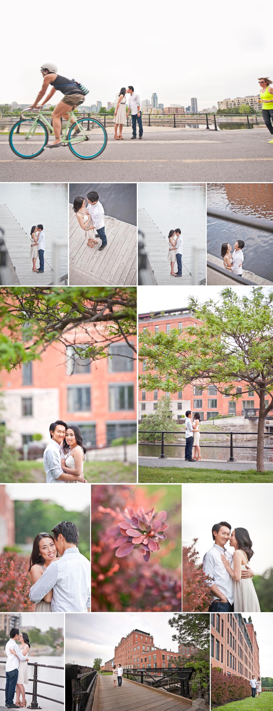 Montreal Wedding Photographer   Lachine Canal   Bike   Montreal Quebec   LMP Wedding Photography and Videography   Bike Paths