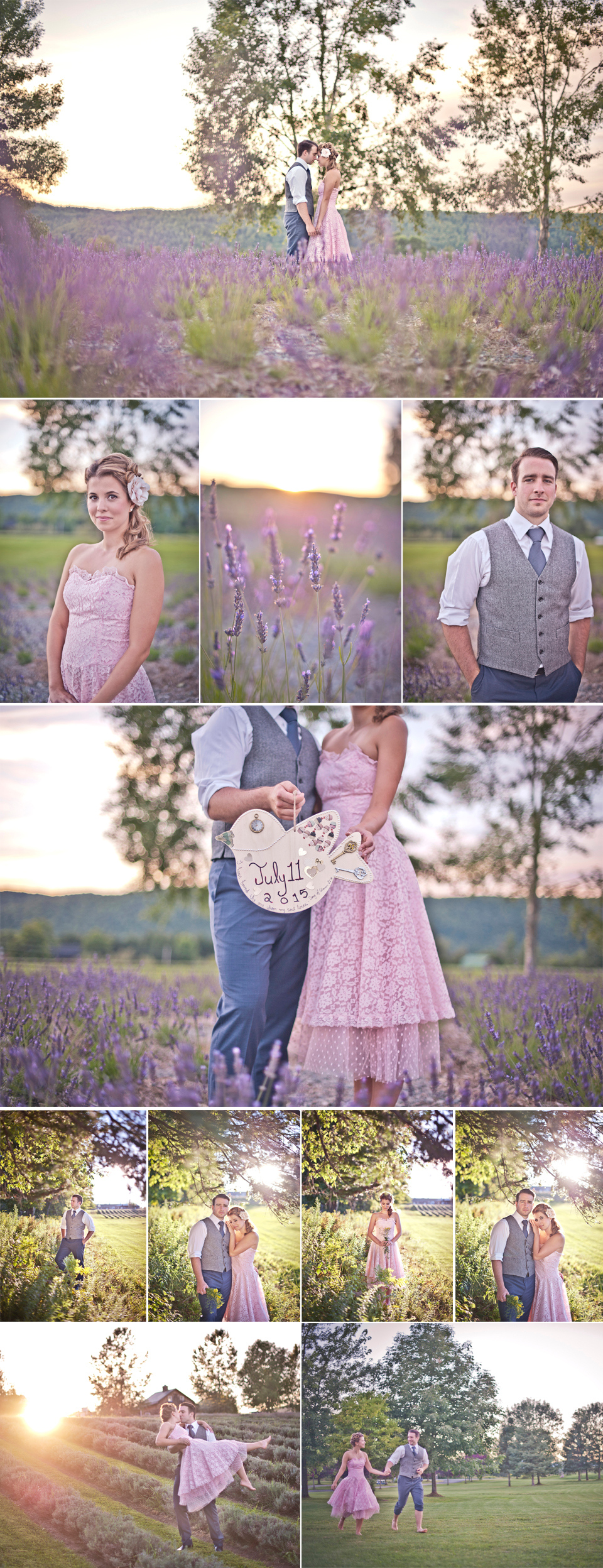 Montreal Wedding Photographer   Lavender Fields   Stanstead Quebec   Save The Date   LMP wedding photography and videography