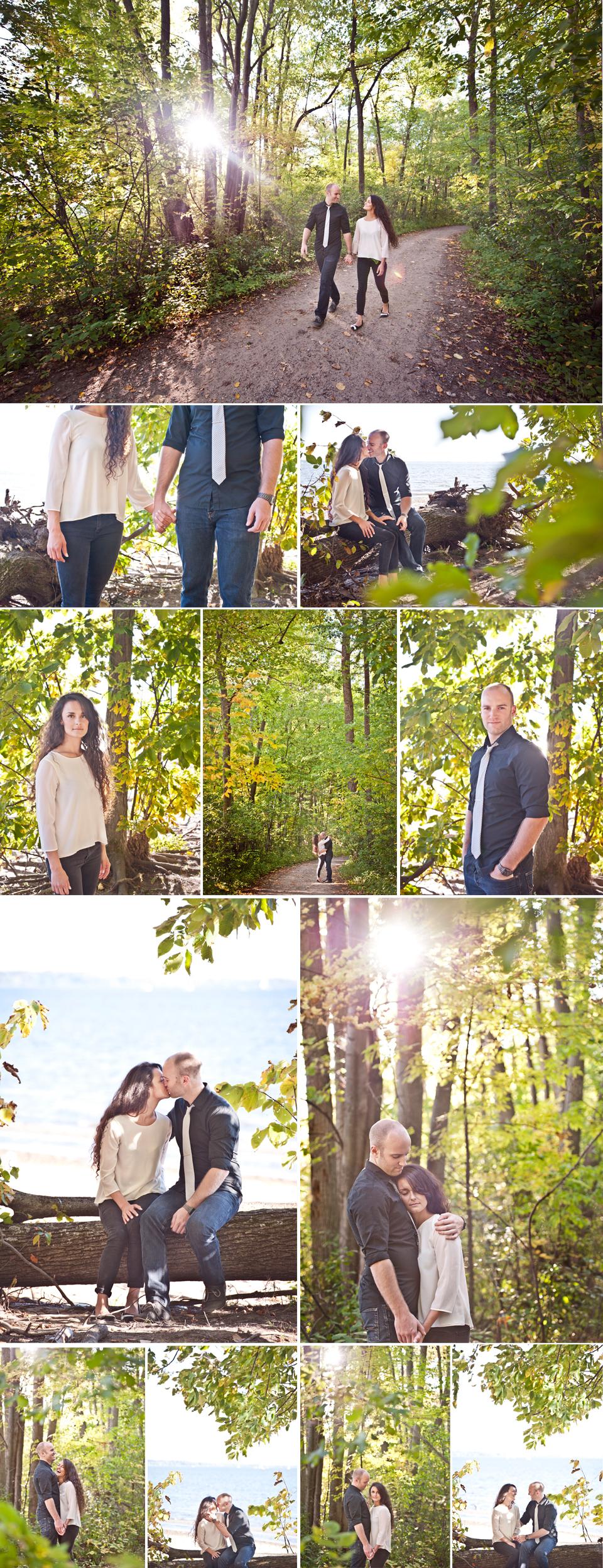 Wedding Photographer Montreal   Oka Beach Quebec   Forest   LMP Wedding Photography and Videography