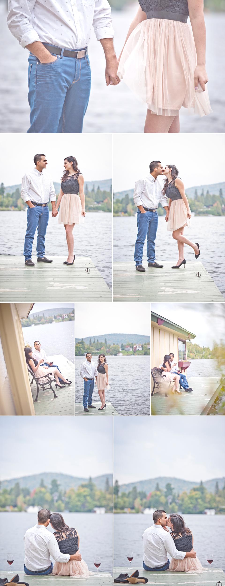 Montreal Wedding Photographer   Engagement Photo   Sainte-Agathe-des-Monts Quebec   Lake   LMP wedding photography and videography