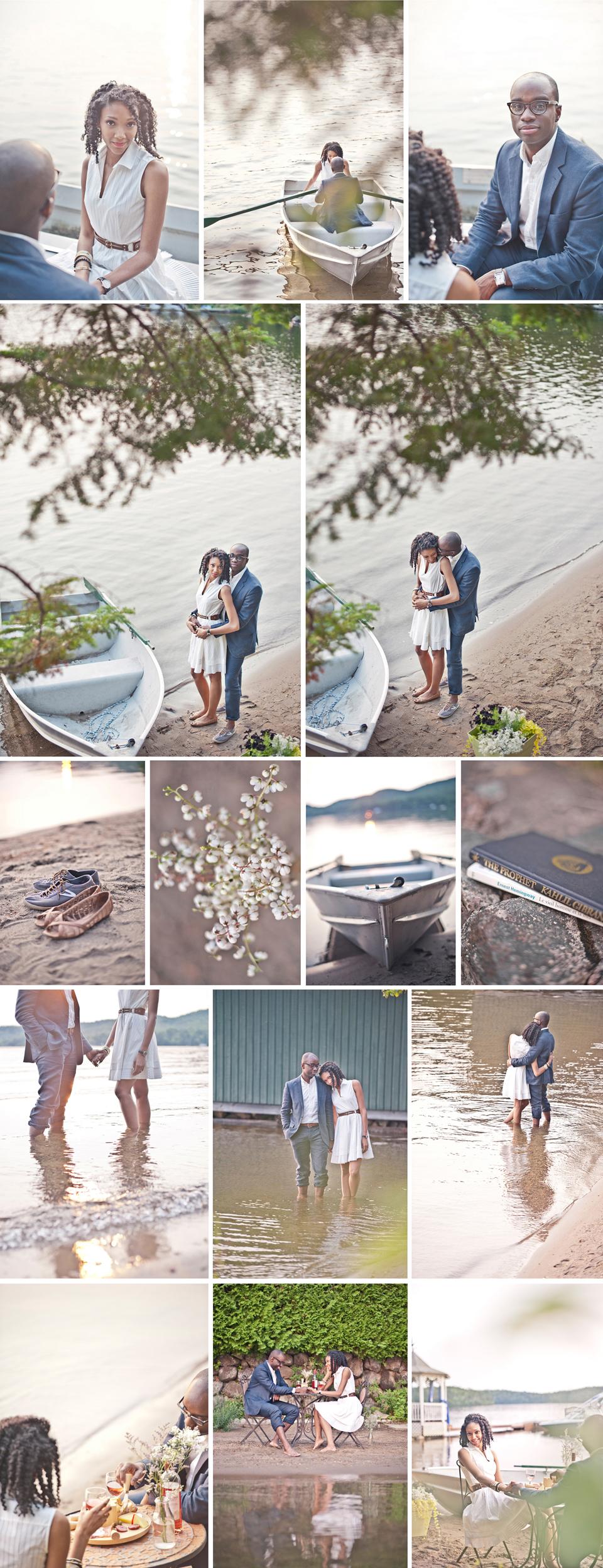 Montreal Wedding Photographer   Tremblant Engagement Photography   Lake