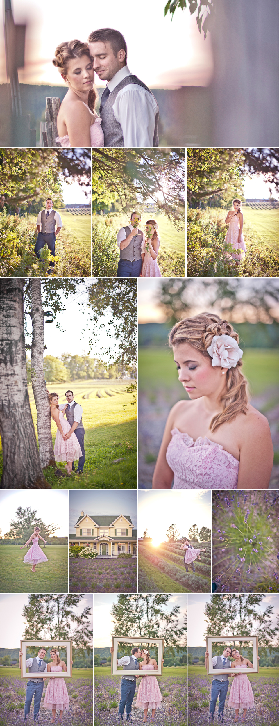 Montreal Wedding Photographer   Lavender Fields Stanstead Quebec   LMP wedding photography and videography
