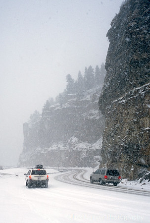 Snow Covered Roads near Redcliff, CO.