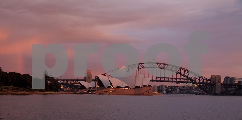Sidney harbor at sunrise