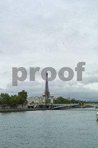 Eiffel Tower from the river Seine