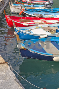 Fishing boats at Vernazzo quey.