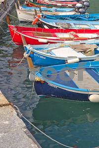 Fishing boats at Vernazzo quey.