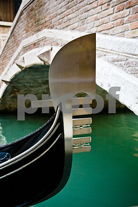 The prow of the gondola is the Quintessential Venice Symbol