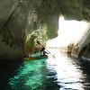 Selma in a Sarakiniko Cave