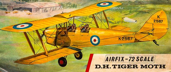 De Havilland Tiger Moth inter-war trainer.