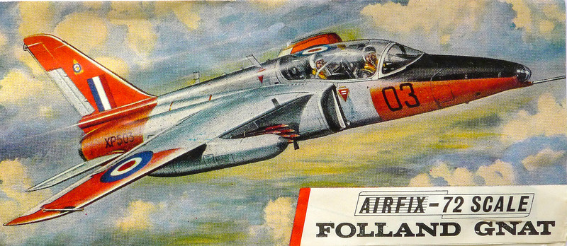Folland Gnat 1950s pilot trainer.