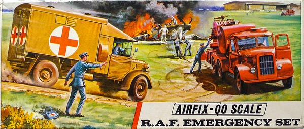 WW11 airfield emergency vehicles.