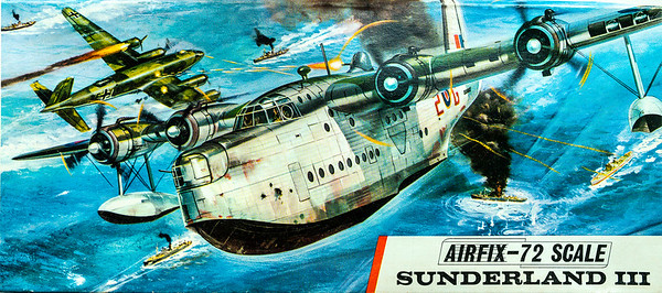 WW11 Short Sunderland maritime patrol aircraft; the 'flying porcupine'.