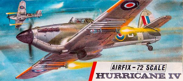 Hawker Hurricane WW11 fighter.