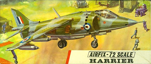 Hawker Harrier GR1 VSTOL fighter.