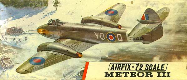 The RAF's first jet fighter the Meteor.