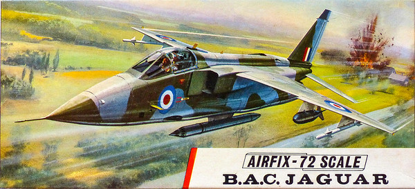 BAC Jaguar ground attack bomber.