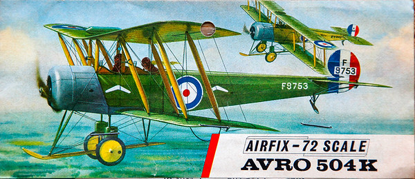 Avro 504K inter-war training biplane.