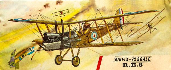WW1 R.E.8 fighter.