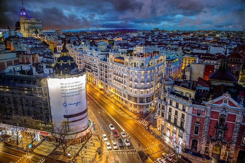From Circulo de Bellas Artes, Madrid, Spain (February 2016)