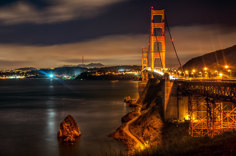 The Golden Gate, from the Sausalito side (February 2015)