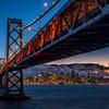 Bay Bridge and San Francisco, from Treasure Island (February 2015)