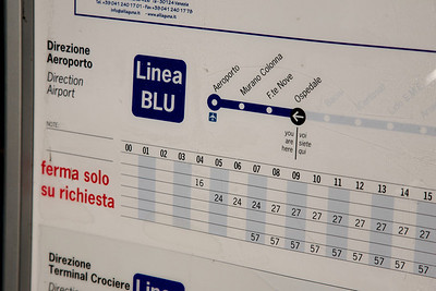 Alilaguna (shuttle) schedule