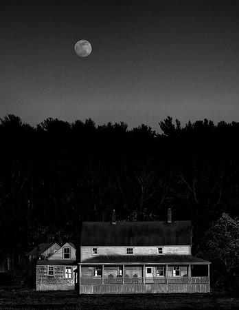 Moonrise at Burnham House, Essex Massachusetts