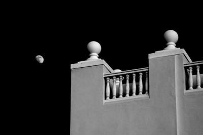 Cancun Mexico Moonrise